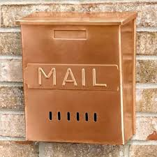 wall mount mailbox envelope. Vertical Wall Mounted Mailbox Copper Mount Mail  Antique Style Envelope U