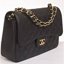 Some Tips to Find out Authenticity of Chanel Bags | Vanna Garcia & Chanel Black Quilted Caviar Jumbo Classic 2.55 Double Flap Bag (photo  grabbed from portero.com) Adamdwight.com