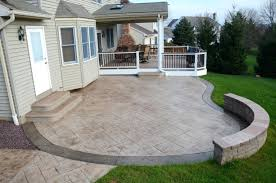backyard raised patio ideas. Stamped Concrete Porch Designs Backyard Raised Patio Ideas
