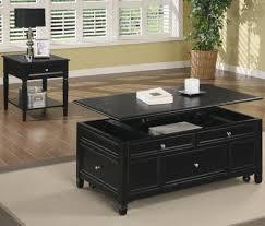custom black coffee table with storage