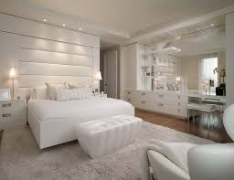 Large Mirror In Bedroom Bedroom Glamour Bedroom With White Rugs And Wooden Flooring Also
