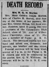 Morton Mary Goldie Hilton 20 Oct 1924 Mon p3 - Newspapers.com
