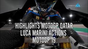 Moto 2 Qatar MotoGP 2020 Full Race Highlights MotoGP Losail Qatar Luca  Marini MotoGP19 Gameplay - YouTube