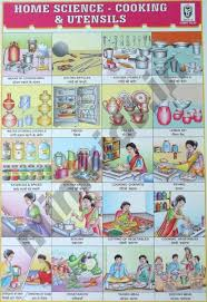 Science Related Chart Home Science Cooking Utensils Chart Number 45