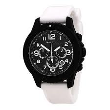 marc by marc jacobs mbm5525 men s the rock chrono black dial white marc by marc jacobs mbm5525 men s the rock chrono black dial white silicone strap watch
