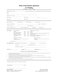 Wedding Contract Weeding Day Information Sheet And Contract Example Wedding Planner 19