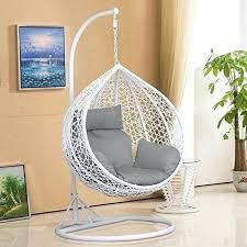indoor hanging egg chair rattan swing chair patio garden wicker hanging egg chair hammock w cushion cover indoor or outdoor white garden indoor hanging egg