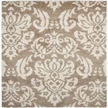 safavieh balin beige cream square indoor tropical area rug common 7
