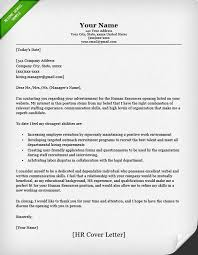 Sample Human Resources Cover Letters Cover Letter Template Human Resources Cover Letter For