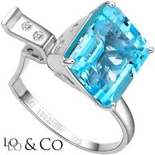 clic lolo co 6 89 carat tw 6 pcs blue topaz mist genuine diamond platinum over 0 925 sterling silver ring