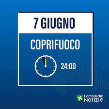 """Lombardia Notizie Online - Da oggi il coprifuoco è posticipato alla  mezzanotte. Il presidente Attilio Fontana: """"Un altro importante passo verso  la normalità. Andiamo avanti veloci con la campagna vaccinale e continuiamo"""