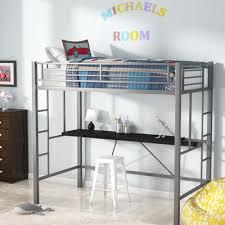 loft twin bed. myrtle twin loft bed with desk