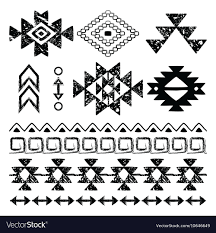 Navajo Pattern Mesmerizing Navajo Hand Drawn Print Retro Aztec Pattern Trib Vector Image