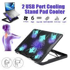 S SKYEE Laptop Cooler 2 USB Ports And 5 Cooling Fans LED USB Laptop Cooling  Pad Notebook Stand for Laptop PC 7 17inch Laptop Cooling Pads