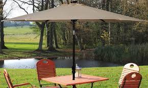 9 ft patio umbrella with solar powered