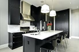 black cabinets white countertops black and white kitchen grey wall white and black cabinets black kitchen