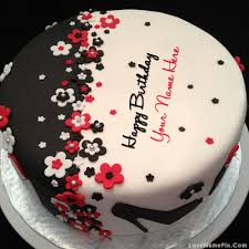 happy birthday cakes with love. Perfect With Write Name On Elegant Happy Birthday Cake Picture With Cakes Love
