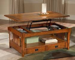 mission style lift top coffee table