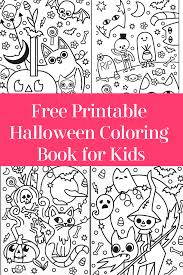 Halloween coloring pages for kids. Free Printable Halloween Coloring Book For Kids No Strings Attached Pretty Opinionated