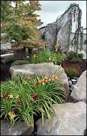 big rocks are prominent in landscape displays at marenakos rock center in issaquah photo