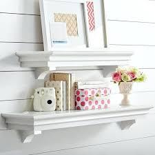 decorative corner shelves wall mounted cube cream floating wooden living room pottery barn bookshelf