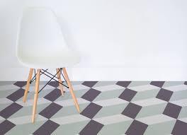 tilt slanted cube flooring light green room vinyl