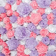 Paper Flower Background Colorful Paper Flowers Background Floral Backdrop With Handmade