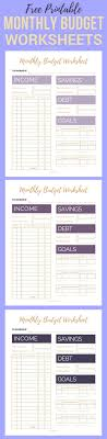 simple printable budget worksheet free printable monthly budget worksheets