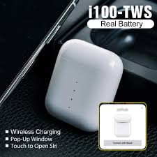 <b>I100 TWS</b> Earbuds Pop Up <b>Wireless</b> Bluetooth Earphones <b>QI</b> ...
