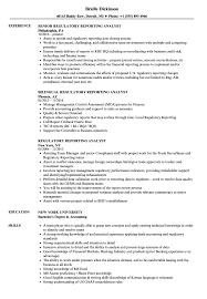 Reporting Analyst Resume Sample Regulatory Reporting Analyst Resume Samples Velvet Jobs 8