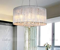 new modern drum shade crystal ceiling chandelier pendant