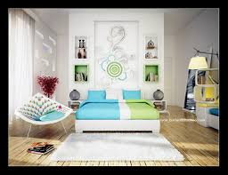 blue and green bedroom. Abstract Blue And Green Bedroom