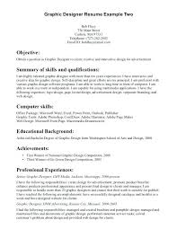 Graphic Design Objective Resume Best of Graphic Design Resume Objective Examples Graphic Design Resume
