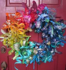 Christmas Decorations Made Out Of Plastic Bottles Recycled Crafts Plastic Bottle Flower Wreath Dollar Store Crafts 21