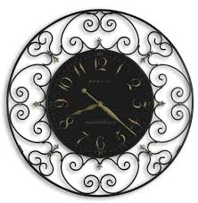 howard miller joline 625 367 scrolled iron wall clock