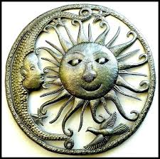 moon wall art colors painted metal sun and moon wall art also outdoor celestial sun moon moon wall art