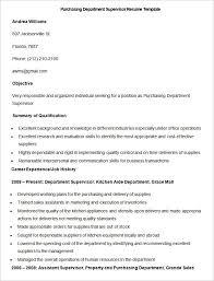 Sample Purchasing Department Supervisor Resume Template Write Your Classy Kitchen Supervisor Resume Sample