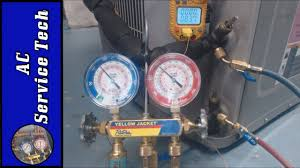 Refrigerant Charging How To Check A R 410a Refrigerant Charge Disconnect On Unit With King Valves