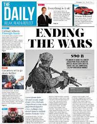 Newspaper Layout On Word Newspaper Template 16 Free Word Pdf Documents Download