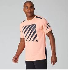 New Balance Men's <b>Printed Velocity SS</b> - Ginger Pink (MT01224 ...