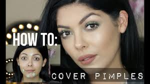 how to hide pimples with makeup full tutorial color
