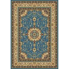 blue medallion rug navy traditional doormat size x 4