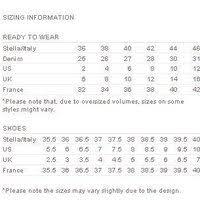 Stella Mccartney Size Chart Stella Mccartney Size Chart Shoes Best Picture Of Chart