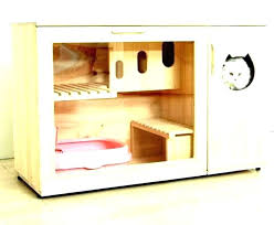 image covered cat litter. Covered Litter Box Furniture Enclosed Cat Cabinet White Bench Hidden Kitty Image