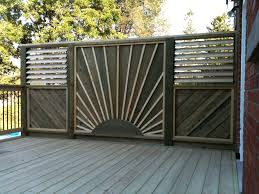 deck privacy wall | Privacy Screens Built by Flann Fence & Deck -  Residential Specialists .