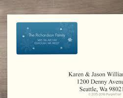 Blue Lagoon Snowflake Address Label Address Labels