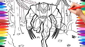 Find coloring pages of : X Men Wolverine Coloring Pages For Kids Marvel Superheroes Coloring Book How To Draw Wolverine Youtube