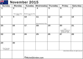 Nov 2015 Calendar Printable Pdf Calendar