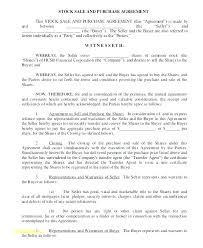 Stock Purchase Agreement Template Sale Form Share Transfer Free Uk