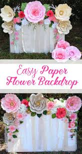 How To Make Paper Flower Backdrop Learn How To Make This Quick And Easy Paper Flower Backdrop Flower